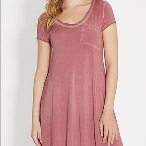 Maurices pink Distressed t shirt dress M